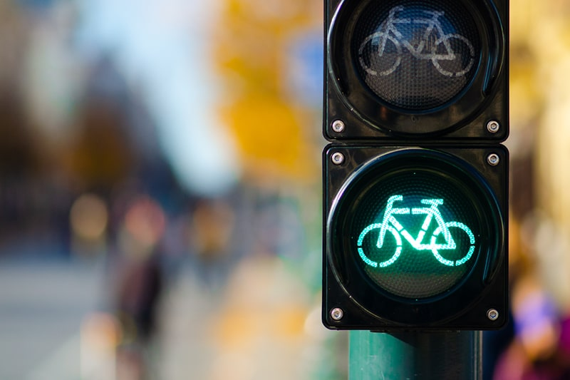 A bike-only traffic light