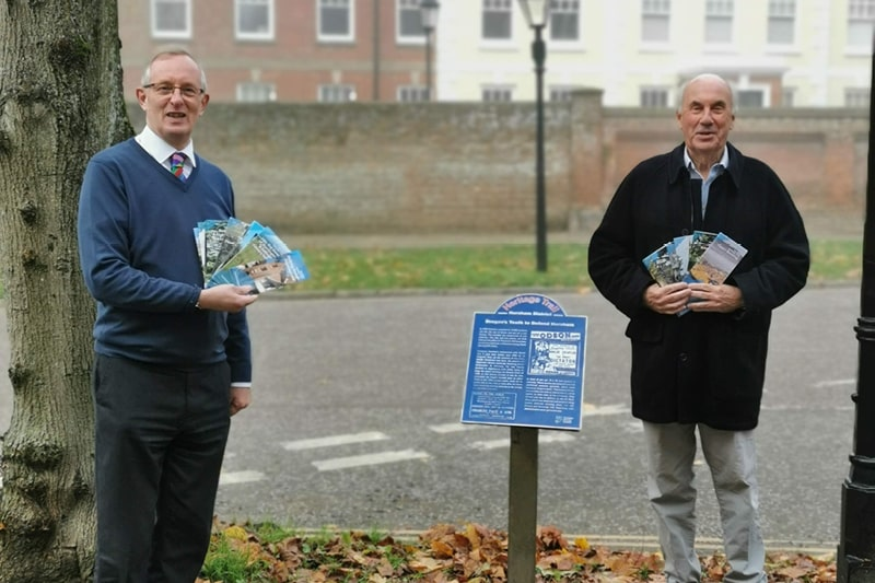 Jeremy Knight, Horsham Museum and Art Gallery Officer, with the heritage trail leaflets