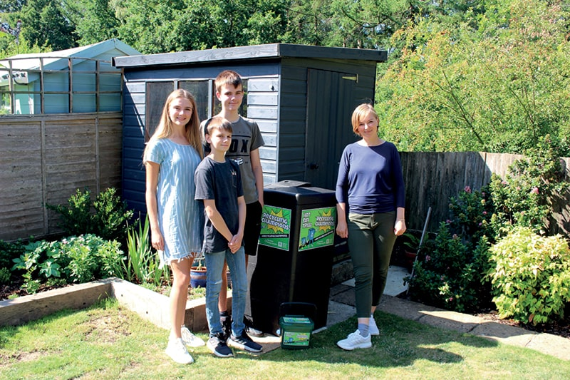 The Coakley family with their Hot Bin