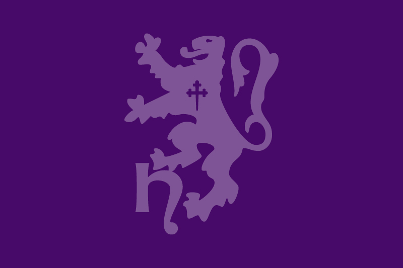 Horsham District Council lion logo in purple